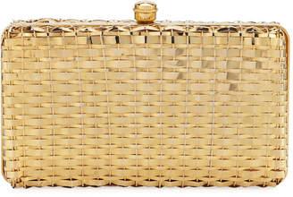 Metallic Woven Minaudiere Box Bag