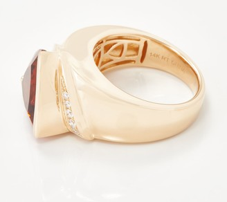 Trillion-Cut Gemstone & Diamond Ring, 5.00 cttw