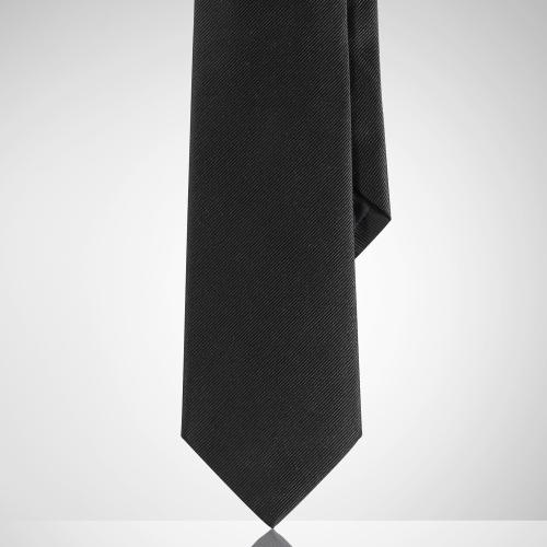 Ralph Lauren Black Label Narrow Repp Solid Tie