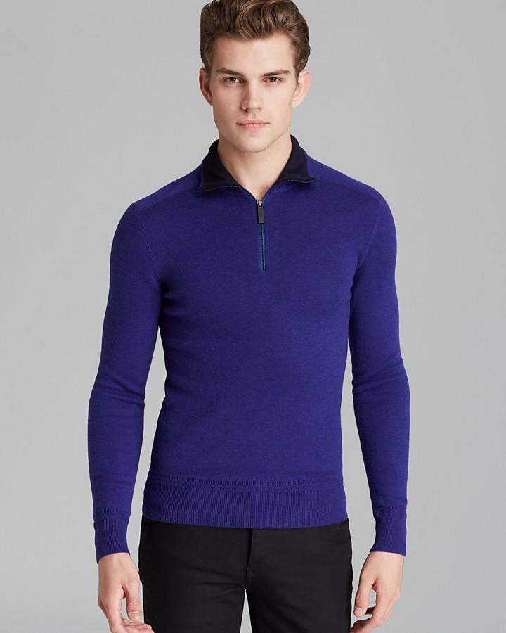 Burberry Chelten Knit Half Zip Sweater