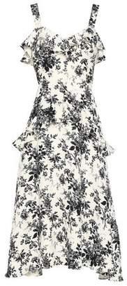 Lover Floral-print Pique Midi Dress