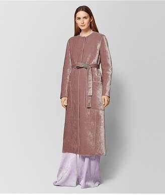Bottega Veneta Deco Rose/Light Grey Velvet/Wool Coat