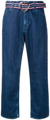 Love Moschino cropped straight jeans