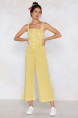 Nasty Gal Get Down to It Striped Jumpsuit