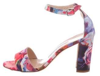 Manolo Blahnik Floral Round-Toe Sandals