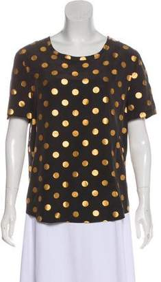 Equipment Silk Polka Dot Top