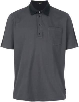 Fendi contrast polo shirt