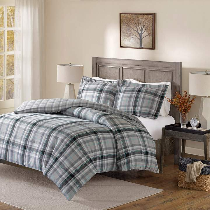 Madison Park Orion Flannel Reversible Duvet Cover Set