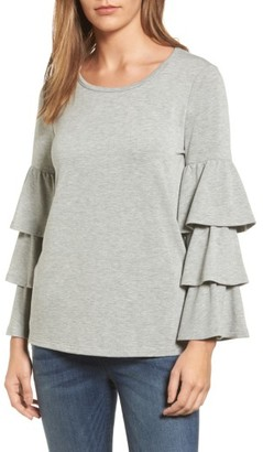 Women's Pleione Tiered Bell Sleeve Knit Top $65 thestylecure.com