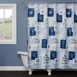 Saturday Knight Ltd. Saturday Knight, Ltd. Seaside Sentiments Shower Curtain