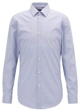 b9aaa0de0 at HUGO BOSS · BOSS Extra-slim-fit checked shirt in cotton-blend poplin