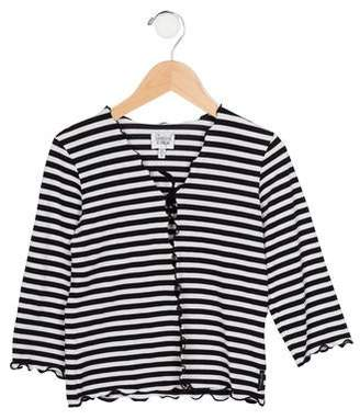 Armani Junior Girls' Striped Knit Cardigan