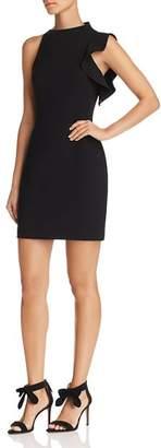 Black Halo Pabla Ruffle-Trim Mini Dress