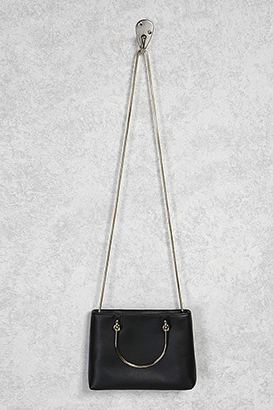 FOREVER 21+ Metallic Handle Crossbody Bag $24.90 thestylecure.com