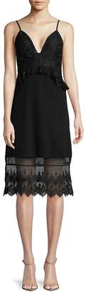 French Connection Women's Floral Lace Sleeveless Dress