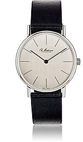 Ole Mathiesen Men's Round-Faced Watch-Silver