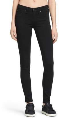 Rag & Bone Legging In Black Plush Jeans