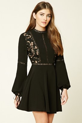 FOREVER 21+ Crochet Overlay Mini Dress $29.90 thestylecure.com