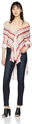 MinkPink Women's Stripe Tunic Shirt