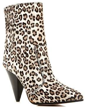 Stuart Weitzman Women's Atomic Leopard Print Calf Hair Booties