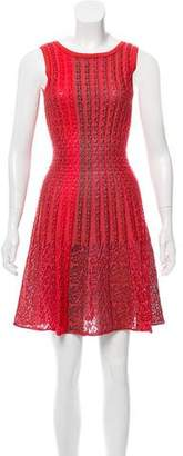 Alaia Sleeveless Fit & Flared Dress