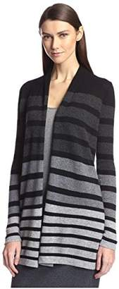 Society New York Women's Stripe Open Cashmere Cardigan