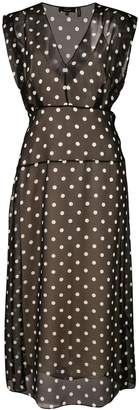 Theory polka dot casual dress