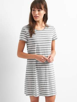Gap Short sleeve slub twist-back dress