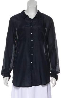Calypso Long Sleeve Button-Up Blouse w/ Tags