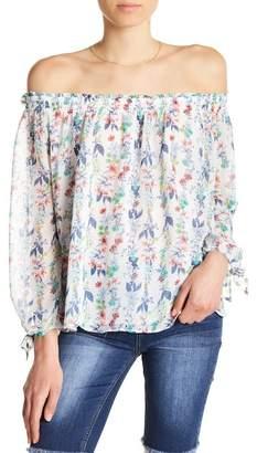 Kensie Off-the-Shoulder Floral Blouse