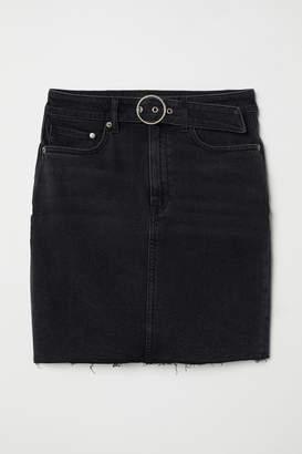 41492a8d53 Belt Denim Skirt - ShopStyle UK