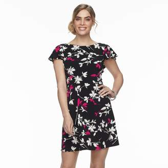 Petite Suite 7 Floral V-Back Shift Dress