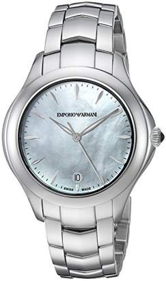 Emporio Armani Swiss Made Women's 'Esedra' Quartz Stainless Steel Casual Watch