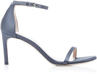 Stuart Weitzman Nudist Satin Sandals