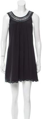 Temperley London Crochet-Trimmed Mini Dress