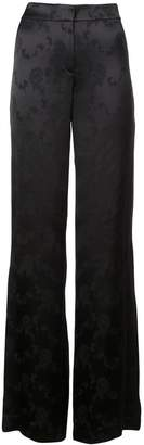 Theory wide-leg printed trousers