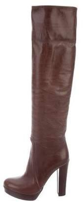 Prada Leather Platform Boots w/ Tags