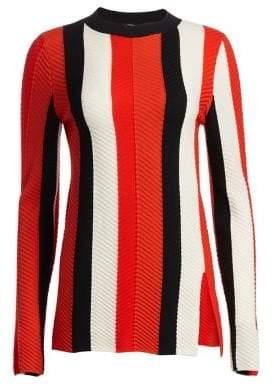 Akris Punto Striped Wool Pullover