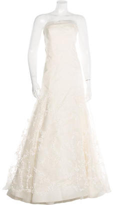 Vera Wang Embellished Silk Wedding Gown $1,195 thestylecure.com