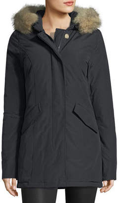 Woolrich Arctic Placket-Front Parka W/ Fur Hood