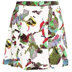 Versace Embellished Printed Crepe Mini Skirt