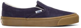 Vans Blue Suede OG LX Slip-On Sneakers