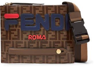 Fendi Logo-Appliqued Printed Coated-Canvas Messenger Bag - Men - Brown