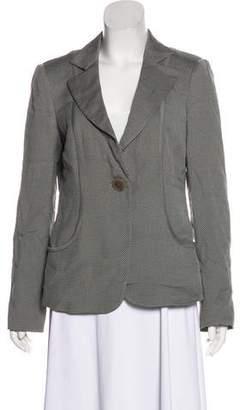 Armani Collezioni Virgin Wool-Blend Houndstooth Blazer