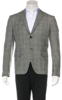 Salvatore Ferragamo Wool Glen Plaid Blazer