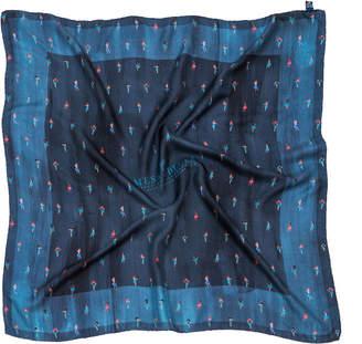 Blue Dancers Italian Silk Scarf