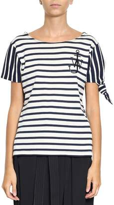 J.W.Anderson Single Knot Striped Cotton T-shirt