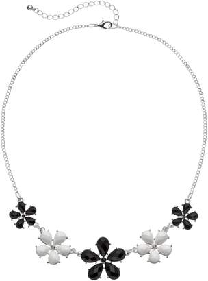 Mudd Black & White Flower Necklace
