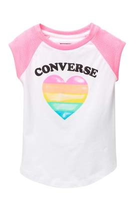 Converse I Heart Raglan Tee (Little Girls)