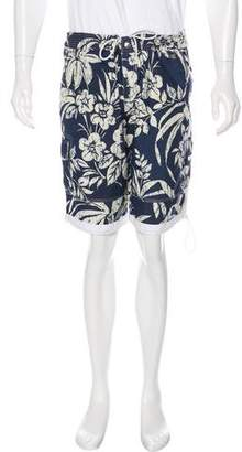 Dolce & Gabbana Hawaiian Print Swim Trunks